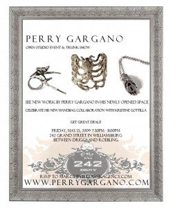 Perry Gargano's Open Studio Event and Trunk Show