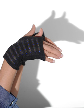 Elyse Allen Merino Cropped Fingerless Gloves